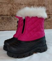 Tamarack Girls Toddler Youth Snow Winter Boots Blue//Pink Laces Choose A Size