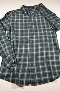 ST. JOHNS BAY Button-Up-Front Flannel Shirt S Small sz Men's (Plaid #42) NEW NWT