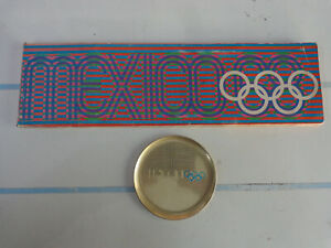 Olympics Mexico 68 Souvenirs: Tray & Cube Booklet Olympic Games Mexican 1968