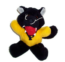 VTG Commonwealth 1984 P Mascot Yellow Black Panther Jaguar Stuffed Animal
