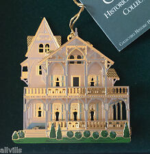 The Clark House Branford Connecticutt 1996 Shelia's 3D Historical Ornament Or023