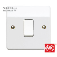 MK Electric K4871WHI Single Light Switch 1 Gang 2 Way 10 Amp Logic Plus