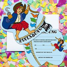 PIRAT EINLADUNGSKARTEN - Einladungen Kindergeburtstag Piraten Party Geburtstag