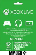 SuscripciónXbox Live Gold De 12 Meses - Xbox One Xbox 360 Código - ES & Global