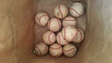 12 major and minor league baseballs, good used cond.