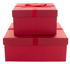 Red Christmas Boxes Valentine's Day Gift Boxes Package Presents Decorative