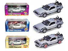 DeLorean Time Machine 3pc Set Back To The Future Trilogy Part 1, 2, & 3 by Welly