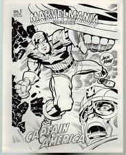 MARVELMANIA MONTHLY TEST MAGAZINE / FANZINE #1 1969 Rare 16 pg Kirby Cap America
