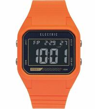 2015 NIB MENS ELECTRIC ED01 PU WATCH $75 orange blast retro look digital alarm