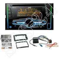 JVC KW-R920BT 2-DIN USB/CD Radio + VW Touareg/T5 Blende schwarz + ISO Adapter