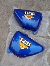Honda CB125 CB125S CD125S 1976-82 Blue Side Cover Pair , Left & Right  + emblem