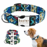 Strong Personalised Dog Collar for Large Dogs Custom ID Nameplate Free Engraved