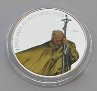 Pope John Paul II Santo Subito 2007 Palau Ag Plt
