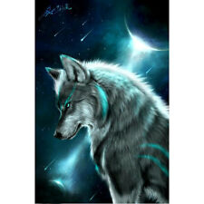 Moon Wolf 5D Diamonds Embroidery Painting DIY Home Decor Craft Cross Stitch