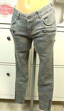 ANINE BING Jeans Ankle Denim Röhre Camouflage Khaki Grün Gr. 26 (D119)