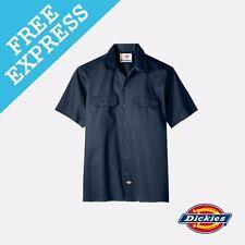 Dickies Short Sleeve Work Shirt 2xl Dark Navy