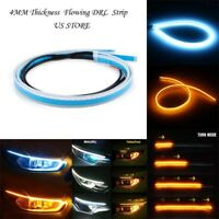 60cm Car LED Headlight Slim Strip Light Daytime Running Flow Turn Signal DC 12V
