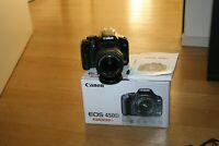 Fotocamera Canon EOS 450D reflex digitale + obiettivo 18-55 IS 22.000 scatti