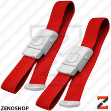 ABS 2pc First Aid Quick Release Buckle Tourniquet Medical Emergency EMT Red
