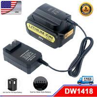 For Dewalt 14.4V Max20V XR Lithium DCB200 DCB204-2 DCB206 Battery Charger DW1418