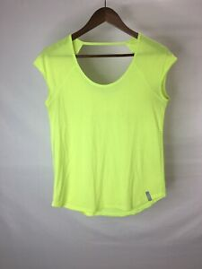 Under Armour Heat Gear FITTED Women's Medium Shirt Yellow Workout Athletic 2