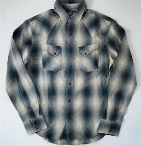 🆕️ Auth RALPH LAUREN RRL DOUBLE RL WRANGLER WESTERN Cotton Long-Sleeve Shirt S