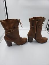 71503457e46c7 67 Sixty-Seven Brown Leather Boots Ankle Calf Boots Made in Spain Size 39  Womens