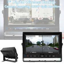 """7"""" Monitor Truck RV Digital Backup Camera Reversing Split Monitor Record DVR AV"""