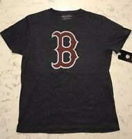 NWT Boston Red Sox Shirt Mens T-Shirt Dark Grey Size Large B Retro Throwback NEW