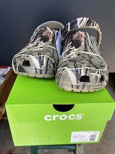 Crocs Classic Realtree Max-4 Clogs Camo Khaki MENS 10 Womens 12 NWT