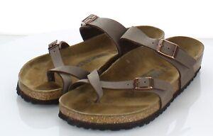 Y69 $100 Women's Sz 41 M Birkenstock Mayari Birko-Flor Hard Footbed Sandal