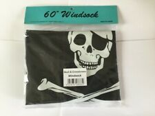 PIRATE WINDSOCK/FREE BUNTING FLAG FOR WINDSOCK POLE CAMPING / CARAVAN/