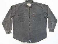Vintage Levi's Denim Shirt Men Size XL Button Down Black Denim Long Sleeve VTG