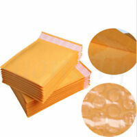 50-100pcs Yellow Kraft Bubble Mailers Padded Envelopes Shipping Bags Self Seal