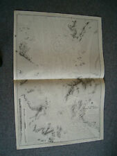 Vintage Admiralty Chart 817 China - Narrows Of Hai Tan Strait 1878 edition