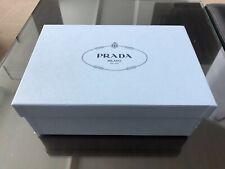 PRADA  SHOES BOX Empty GIFT BOX STORAGE ORGANIZER  Blue