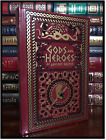 Gods & Heroes of Ancient Greek Mythology New Sealed Leather Bound Gift Hardback