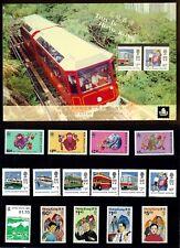 HONG KONG 1992 75th LIONS CLUBS INTERNATIONAL CONVENTION SOUVENIR FOLDER VF MNH