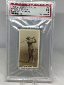 1928 Millhoff Famous Golfers #5 Harry Vardon PSA 5