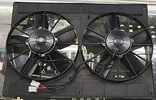 """SPAL 2VA06 24 VOLT SLIM DUAL 12"""" ENGINE RADIATOR CONDENSER FANS PUSH & PULL 24V"""