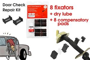 Door Check Repair Kit Stay Strap Stopper Replace for Mitsubishi (4 doors)