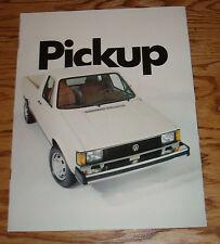 Original 1982 Volkswagen VW Pickup Truck Sales Brochure 82