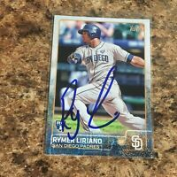 Rymer Liriano Signed 2015 Topps Rc Auto San Diego Padres