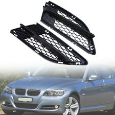 Fit For BMW 325i 328i 335i Front Bumper Lower Fog Light Grilles Mesh Cover ABS