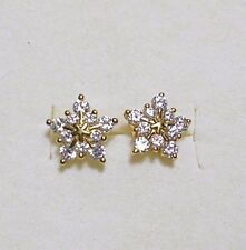 925 St silver studs, star made with Swarovski crystals gold plt'd