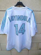 Maillot OM OLYMPIQUE DE MARSEILLE 2005 ADIDAS shirt LUYINDULA n°14 trikot XL