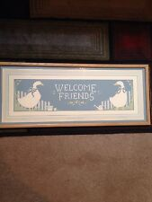 "Authentic Signed Elizabeth Brownd ""Welcome friends"" Serigraph 398/2500"