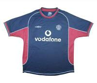 Manchester United 2000-01 Authentic Third Shirt (Excellent) M Soccer Jersey