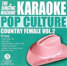 SINGING MACHINE KARAOKE - Vol 2pop Culture Country Female - CD -