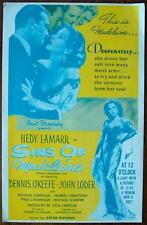 DISHONORED LADY aka SINS OF MADELINE Orig Pressbook COMPLETE R1950s Hedy Lamarr